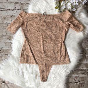 Beautiful Blush Lace Bodysuit